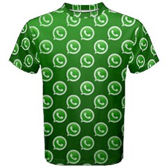 Whatsapp Logo Pattern Men s Cotton Tee