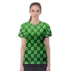 Whatsapp Logo Pattern Women s Sport Mesh Tee