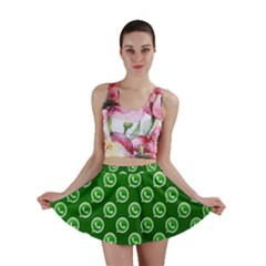 Whatsapp Logo Pattern Mini Skirt