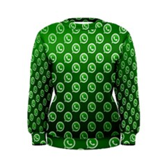 Whatsapp Logo Pattern Women s Sweatshirt
