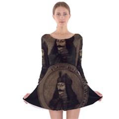 Count Vlad Dracula Long Sleeve Velvet Skater Dress