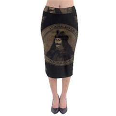 Count Vlad Dracula Midi Pencil Skirt