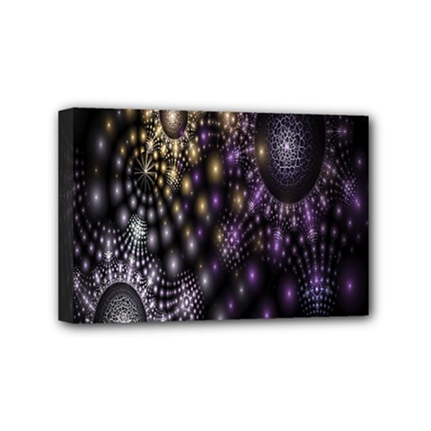Fractal Patterns Dark Circles Mini Canvas 6  X 4