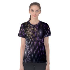 Fractal Patterns Dark Circles Women s Cotton Tee
