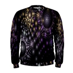 Fractal Patterns Dark Circles Men s Sweatshirt