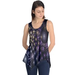 Fractal Patterns Dark Circles Sleeveless Tunic