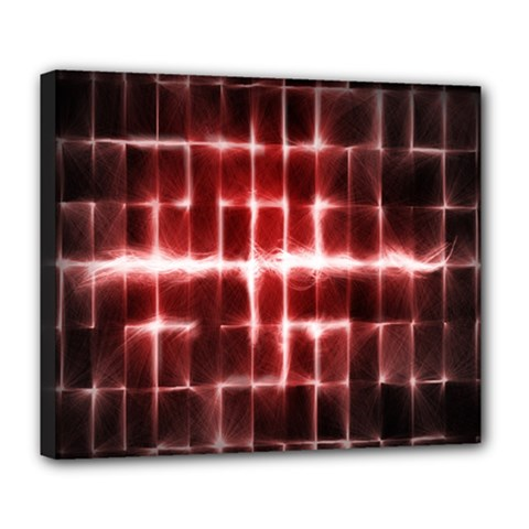 Electric Lines Pattern Deluxe Canvas 24  X 20