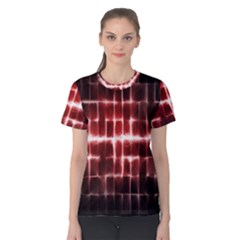 Electric Lines Pattern Women s Cotton Tee