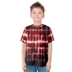 Electric Lines Pattern Kids  Cotton Tee