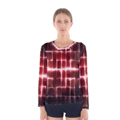 Electric Lines Pattern Women s Long Sleeve Tee