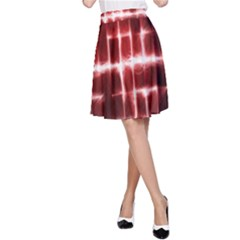 Electric Lines Pattern A Line Skirt