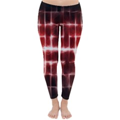 Electric Lines Pattern Classic Winter Leggings