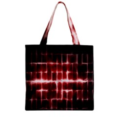 Electric Lines Pattern Zipper Grocery Tote Bag