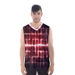 Electric Lines Pattern Men s Basketball Tank Top