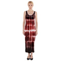Electric Lines Pattern Fitted Maxi Dress