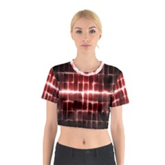 Electric Lines Pattern Cotton Crop Top