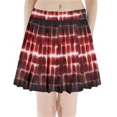 Electric Lines Pattern Pleated Mini Skirt
