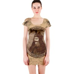 Count Vlad Dracula Short Sleeve Bodycon Dress