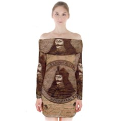 Count Vlad Dracula Long Sleeve Off Shoulder Dress