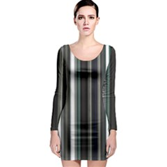 Miracle Mile Pattern Long Sleeve Bodycon Dress