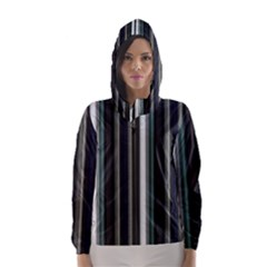 Miracle Mile Pattern Hooded Wind Breaker (Women)