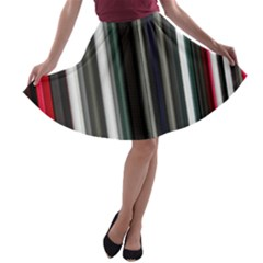 Miracle Mile Pattern A-line Skater Skirt