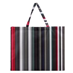 Miracle Mile Pattern Zipper Large Tote Bag