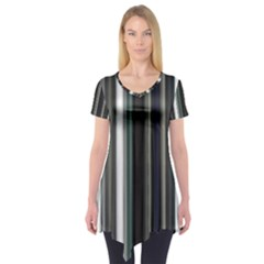 Miracle Mile Pattern Short Sleeve Tunic
