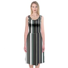 Miracle Mile Pattern Midi Sleeveless Dress