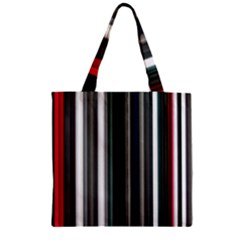 Miracle Mile Pattern Zipper Grocery Tote Bag