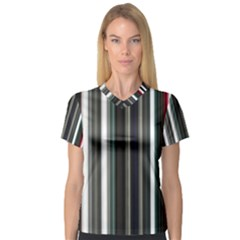 Miracle Mile Pattern Women s V-Neck Sport Mesh Tee