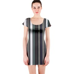 Miracle Mile Pattern Short Sleeve Bodycon Dress