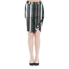 Miracle Mile Pattern Midi Wrap Pencil Skirt