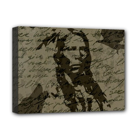 Indian chief Deluxe Canvas 16  x 12
