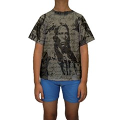 Indian chief Kids  Short Sleeve Swimwear