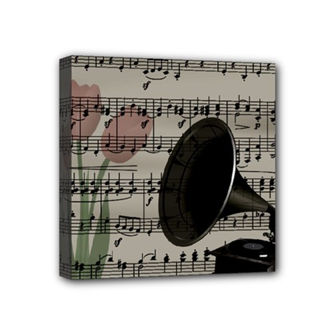 Vintage music design Mini Canvas 4  x 4