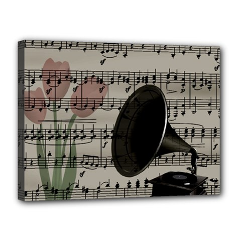 Vintage music design Canvas 16  x 12