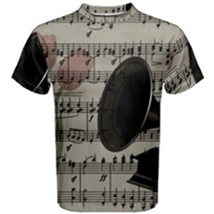 Vintage music design Men s Cotton Tee