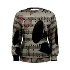 Vintage music design Women s Sweatshirt