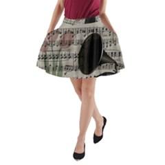 Vintage music design A-Line Pocket Skirt
