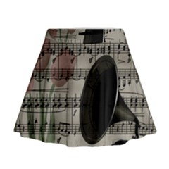 Vintage music design Mini Flare Skirt