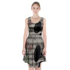 Vintage music design Racerback Midi Dress