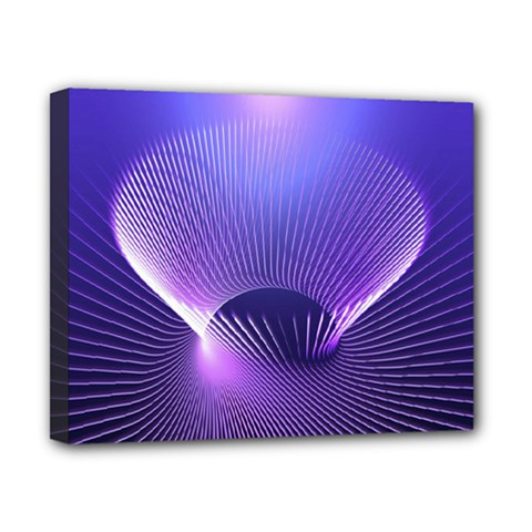 Abstract Fractal 3d Purple Artistic Pattern Line Canvas 10  x 8