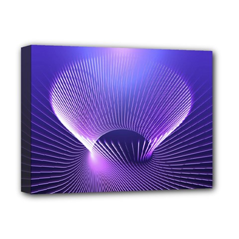 Abstract Fractal 3d Purple Artistic Pattern Line Deluxe Canvas 16  x 12