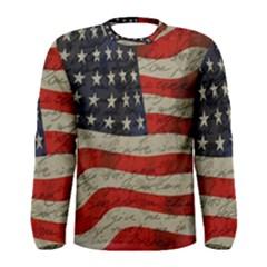 Vintage American flag Men s Long Sleeve Tee