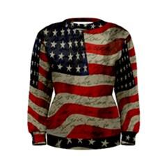 Vintage American flag Women s Sweatshirt