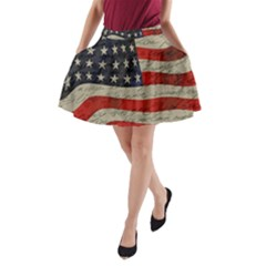 Vintage American flag A-Line Pocket Skirt