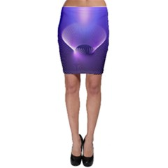 Abstract Fractal 3d Purple Artistic Pattern Line Bodycon Skirt