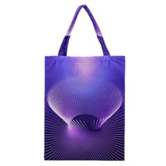 Abstract Fractal 3d Purple Artistic Pattern Line Classic Tote Bag