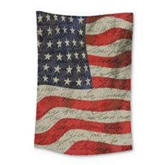 Vintage American Flag Small Tapestry